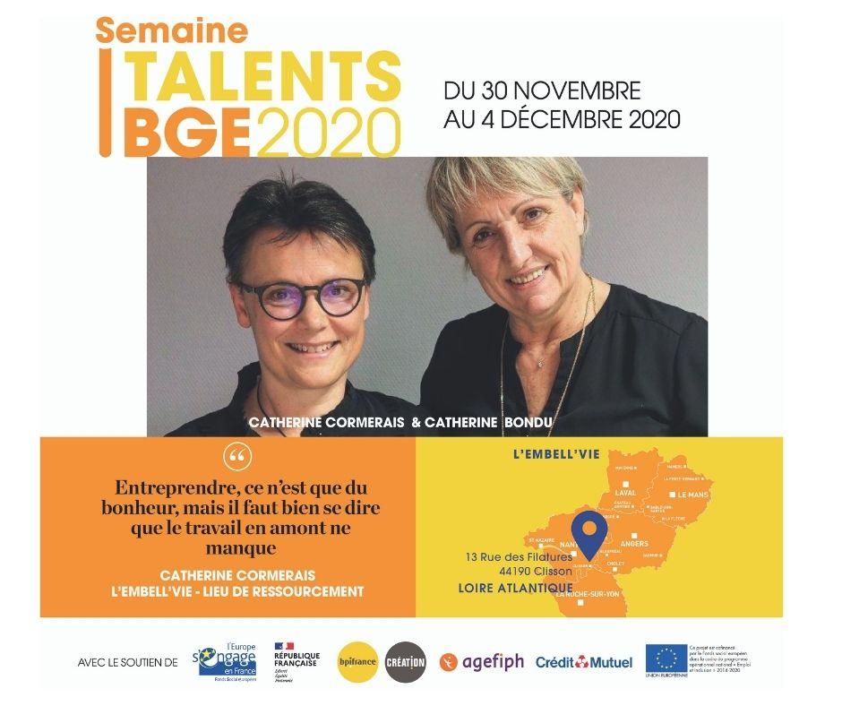 Catherine CORMERAIS – Semaine Talents 2020